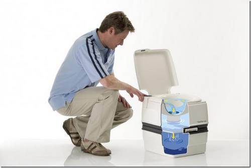 Как работает биотуалет для дома.