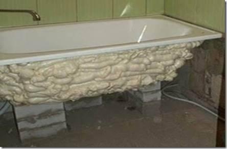 Как закрепить стальную ванную?