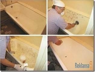 Как покрасить акриловую ванну?