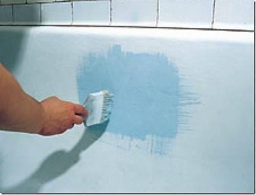 Как покрасить чугунную ванну.