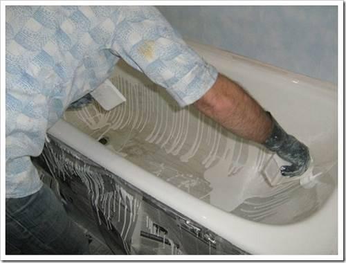 Как отреставрировать ванну своими руками. Жидкий Акрил.