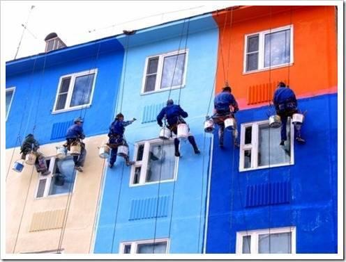 Фронт работ при отделке фасада