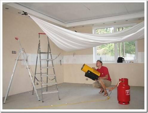 Наиболее практичный способ крепления потолка