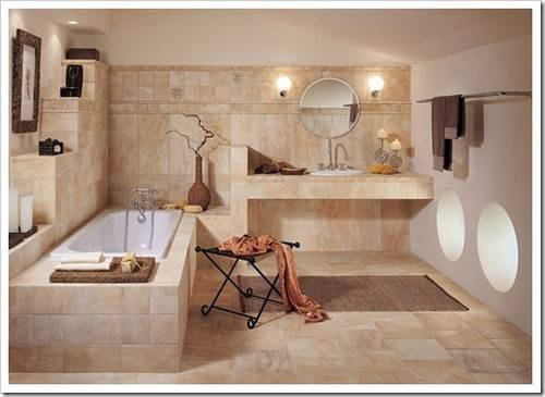 Варианты организации напольного покрытия в ванной комнате