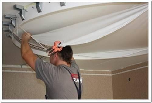 Монтаж натяжного потолка своими руками. Преимущества натяжного потолка над подвесным.