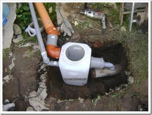 Внутренняя и внешняя части системы канализации
