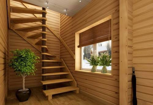 Как сделать лестницу на второй этаж на даче?