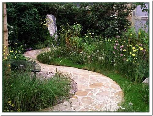 мощения садовых дорожек