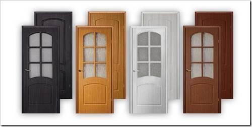 Дверь с ПВХ покрытием.
