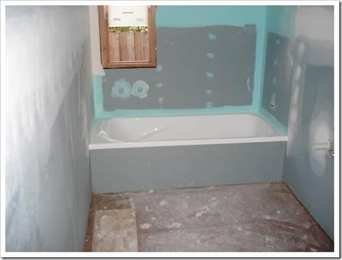 влагостойкий гипсокартон в ванной