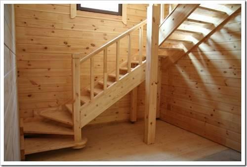 Как построить лестницу на второй этаж в деревянном доме