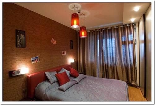Спальня из узкой комнаты