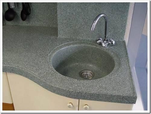 Мойка на кухню из камня