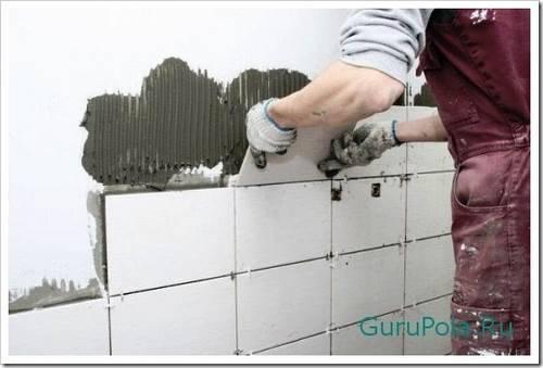 Разметка стен и укладка