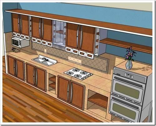 План интерьера кухни
