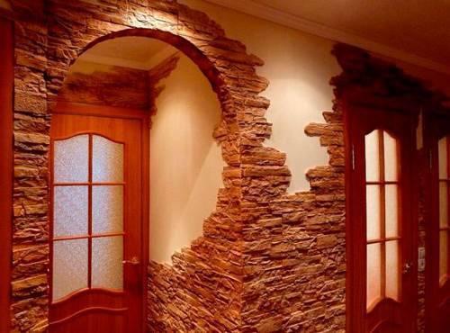 Как выложить угол декоративным камнем