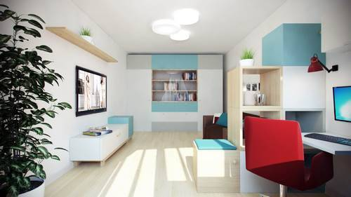 Дизайн двухкомнатной квартиры-распашонки