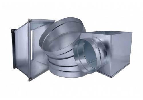 Соединение воздуховодов вентиляции под углом
