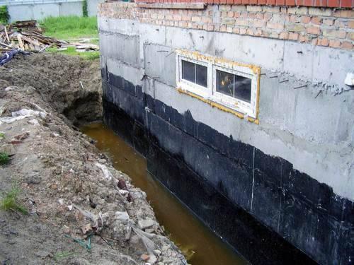 Виды гидроизоляции швов фундамента