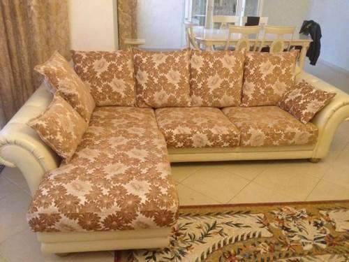 Как перетянуть угловой диван