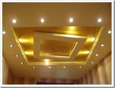 Где используются подвесные потолки?