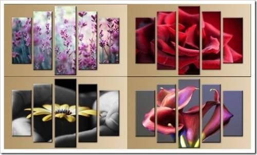 Виды настенных модульных картин