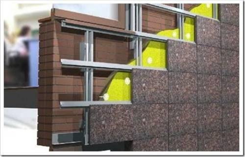 Последовательность монтажа навесного фасада