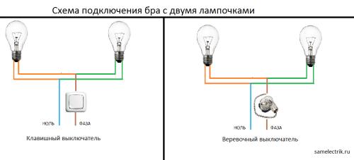 Как подключить настенный светильник