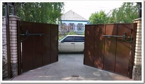 Положительные стороны использования распашных ворот