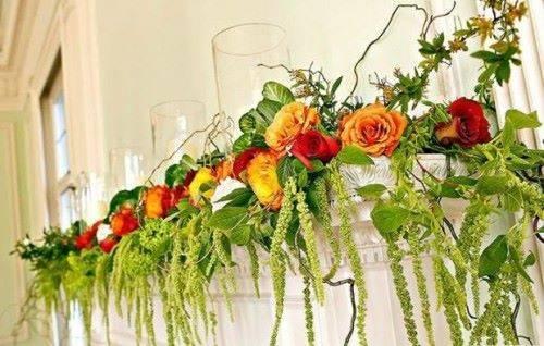 Искуственные цветы в интерьере
