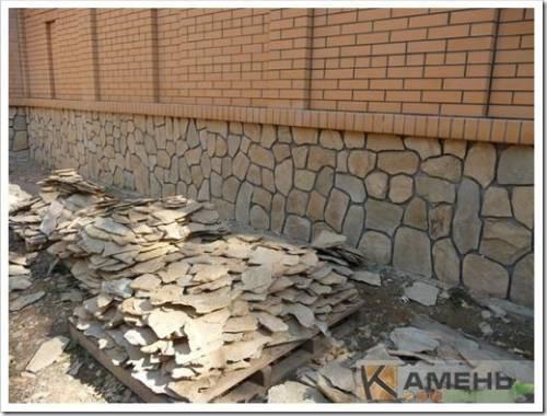 Резка природного камня и установка его на место