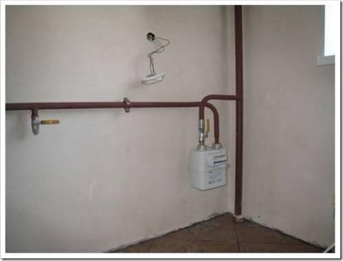 Технические подробности переноса газовой трубы