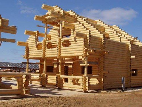 монтаж деревянного дома