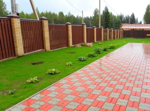 Как положить тротуарную плитку на даче