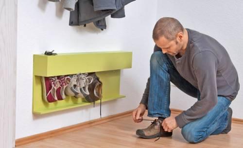 оригинальная полка для обуви