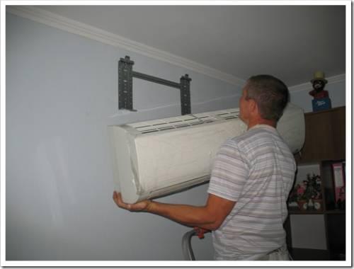 Установка кондиционера в домашних условиях