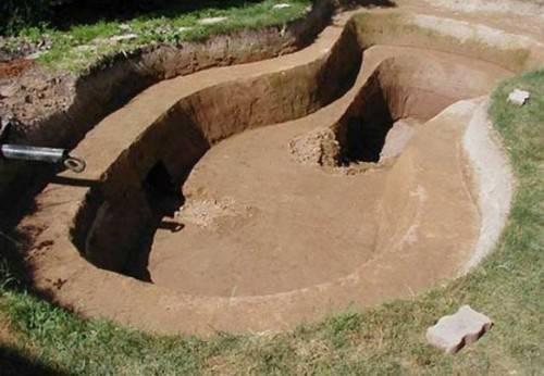 как выкопать бассейн