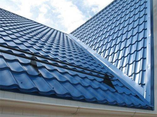 металлорчерепица на крыше