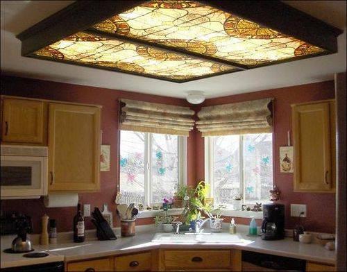 Монтаж светодиодных панелей на потолок