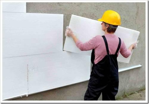 Предварительная подготовка стен перед установкой утеплителя