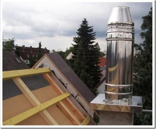 Возвышение трубы над крышей