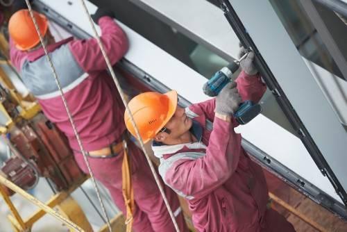 Монтаж алюминиевых конструкций
