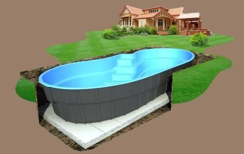 Как вкопать каркасный бассейн