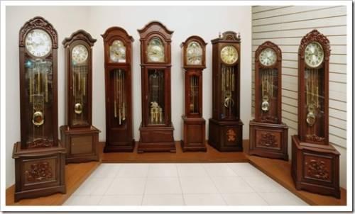 Напольные часы в интерьере