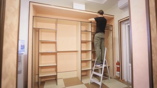 Как собрать шкаф купе своими руками