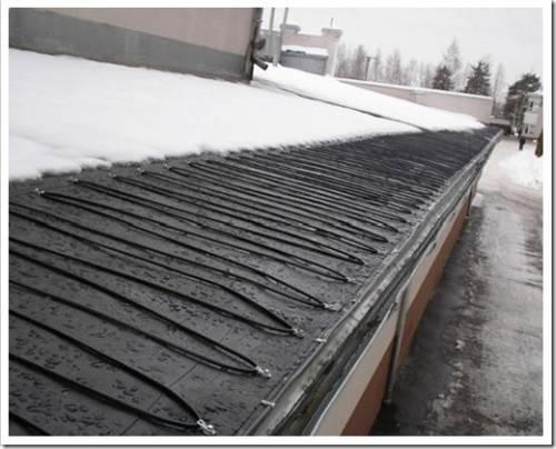 Запуск системы антиобледенения и снеготаяния