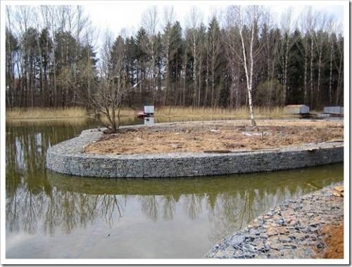 Различные способы укрепления берега