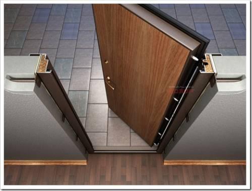 Последовательность действий при установке металлической двери