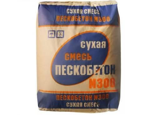 Пескобетон м300: характеристики