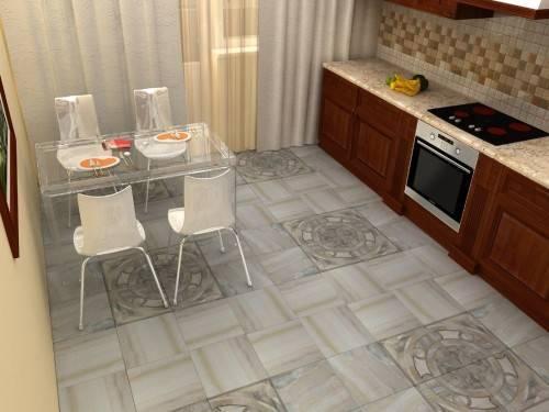 Какую плитку положить на кухне на пол
